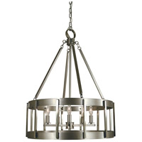 Pantheon 5 Light 22 inch Satin Pewter with Polished Nickel Pendant Ceiling Light in Satin Pewter/Polished Nickel