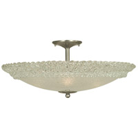 Brocatto 4 Light 24 inch Brushed Nickel Semi-Flush Mount Ceiling Light