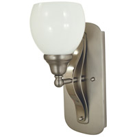Aries 1 Light 5 inch Satin Pewter/Polished Nickel Sconce Wall Light