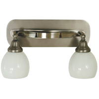 Aries 2 Light 16 inch Satin Pewter with Polished Nickel Sconce Wall Light