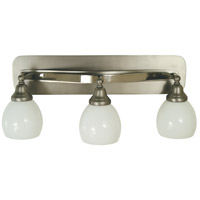Aries 3 Light 23 inch Satin Pewter/Polished Nickel Sconce Wall Light