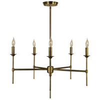Chandler 5 Light 26 inch Antique Brass Chandelier Ceiling Light