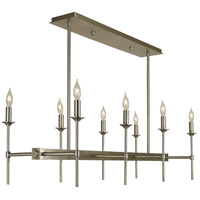 HA Framburg Chandler 8 Light Island Chandelier in Brushed Nickel 4698BN