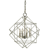 Etoile 4 Light 15 inch Satin Pewter with Polished Nickel Chandelier Ceiling Light in Satin Pewter/Polished Nickel