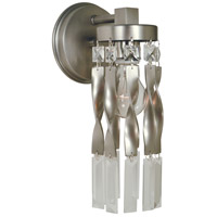Adele 1 Light 5 inch Satin Pewter/Polished Nickel Sconce Wall Light