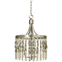 Adele 4 Light 14 inch Satin Pewter with Polished Nickel Mini Pendant Ceiling Light