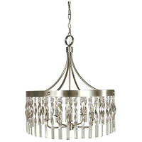 Adele 5 Light 24 inch Satin Pewter/Polished Nickel Pendant Ceiling Light