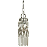 Adele 1 Light 4 inch Satin Pewter with Polished Nickel Mini Pendant Ceiling Light