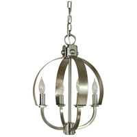 Luna 4 Light 12 inch Brushed Nickel Mini Chandelier Ceiling Light