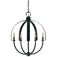 Luna 5 Light 21 inch Antique Brass Chandelier Ceiling Light