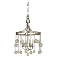 Falling Stars 4 Light 14 inch Satin Pewter with Polished Nickel Chandelier Ceiling Light in Satin Pewter/Polished Nickel