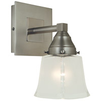 Mercer 1 Light 5 inch Satin Pewter/Polished Nickel Sconce Wall Light