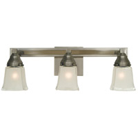 Mercer 3 Light 21 inch Satin Pewter/Polished Nickel Sconce Wall Light