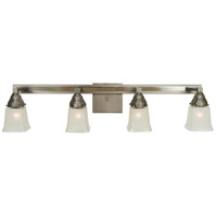 HA Framburg Mercer 4 Light Sconce in Satin Pewter/Polished Nickel 4774SP/PN