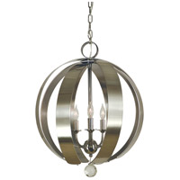 Venus 5 Light 18 inch Polished Nickel with Brushed Nickel Chandelier Ceiling Light