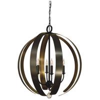 Framburg 4779MB/HB Venus 6 Light 24 inch Mahogany Bronze with Harvest Bronze Chandelier Ceiling Light
