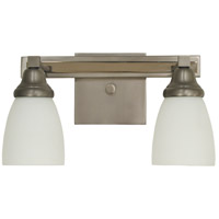 Mercer 2 Light 14 inch Satin Pewter with Polished Nickel Sconce Wall Light