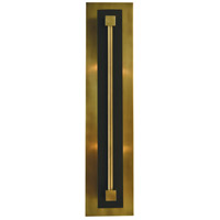 Louvre 2 Light 5 inch Antique Brass with Matte Black ADA Sconce Wall Light in Antique Brass/Matte Black