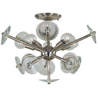 Apogee 5 Light 20 inch Polished Nickel Semi Flush Mount Ceiling Light