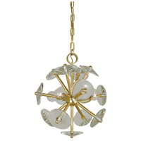 Apogee 4 Light 13 inch Polished Brass Mini Chandelier Ceiling Light