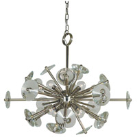 Apogee 12 Light 28 inch Polished Nickel Chandelier Ceiling Light