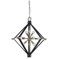 Axis 11 Light 27 inch Polished Nickel with Matte Black Chandelier Ceiling Light in Polished Nickel/Matte Black