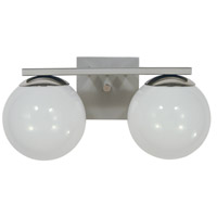 Blue Moon 2 Light 15 inch Satin Pewter with Polished Nickel Bath Sconce Wall Light in Satin Pewter/Polished Nickel