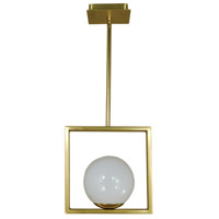 Blue Moon 1 Light 10 inch Satin Brass/Polished Brass Pendant Ceiling Light