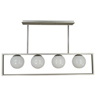 Blue Moon 4 Light 40 inch Satin Pewter/Polished Nickel Island Chandelier Ceiling Light