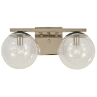 Jupiter 2 Light 15 inch Polished Nickel Bath Sconce Wall Light