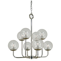 Jupiter 10 Light 26 inch Polished Nickel Chandelier Ceiling Light