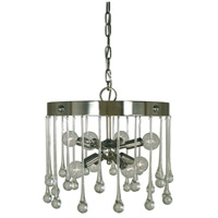 Waterfall 8 Light 14 inch Polished Nickel Chandelier Ceiling Light