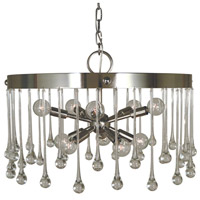Waterfall 10 Light 21 inch Polished Nickel Chandelier Ceiling Light