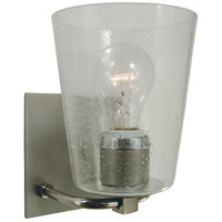 Mercer 1 Light 7 inch Satin Pewter with Polished Nickel Bath Sconce Wall Light in Clear Seedy
