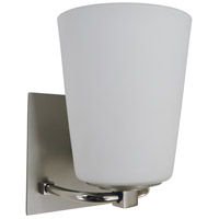 Framburg 4851-SP/PN/WT Mercer 1 Light 7 inch Satin Pewter/Polished Nickel Bath Sconce Wall Light in White