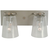 Mercer 2 Light 15 inch Satin Pewter with Polished Nickel Bath Sconce Wall Light in Clear Seedy