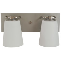 Framburg 4852-SP/PN/WT Mercer 2 Light 15 inch Satin Pewter/Polished Nickel Bath Sconce Wall Light in White