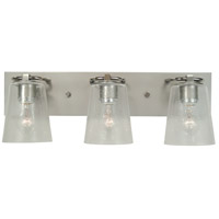 Mercer 3 Light 24 inch Satin Pewter with Polished Nickel Bath Sconce Wall Light in Clear Seedy