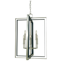 Symmetry 6 Light 22 inch Brushed Nickel/Matte Black Chandelier Ceiling Light
