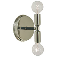 Parallax 2 Light 5 inch Polished Nickel with Matte Black Bath Sconce Wall Light in Polished Nickel/Matte Black