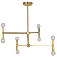 Parallax 8 Light 24 inch Polished Brass Chandelier Ceiling Light