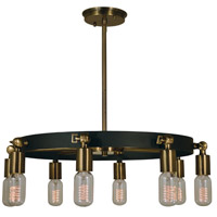 Felix 8 Light 23 inch Antique Brass with Matte Black Chandelier Ceiling Light in Antique Brass/Matte Black