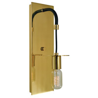 Framburg 4891PB/MBLACK Juliette 1 Light 6 inch Polished Brass with Matte Black Bath Sconce Wall Light in Polished Brass/Matte Black