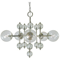 Framburg 4945PN Solaris 5 Light 28 inch Polished Nickel Chandelier Ceiling Light