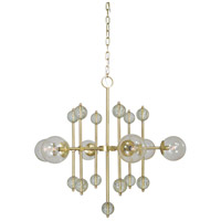 Framburg 4946SB Solaris 6 Light 38 inch Satin Brass Chandelier Ceiling Light