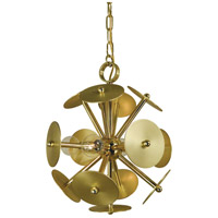 Framburg 4974PB/SB Apogee 4 Light 13 inch Polished Brass with Satin Brass Accents Mini Chandelier Ceiling Light