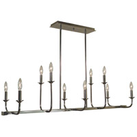 Framburg 4983PN Boulevard 10 Light 42 inch Polished Nickel Island Chandelier Ceiling Light