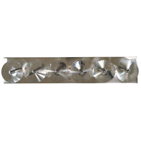 Framburg 5009PN Patrice 5 Light 25 inch Polished Nickel Sconce Wall Light