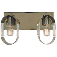 Josephine 2 Light 14 inch Polished Nickel with Brushed Nickel Accents Bath Vanity Wall Light