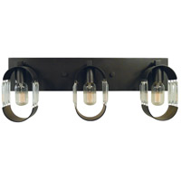 Framburg 5013MB/HB Josephine 3 Light 24 inch Mahogany Bronze with Harvest Bronze Accents Bath Vanity Wall Light